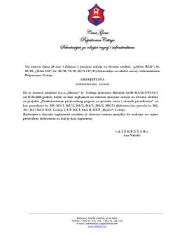 Rješenje br. 05-353/16-UPI-413 od 11.04.2016. godine