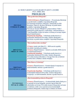 program - Privredna komora Beograda