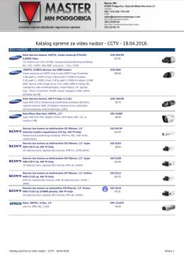 Katalog opreme za video nadzor - CCTV