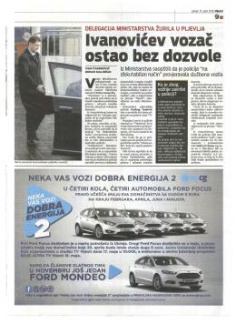 2016-04-15_vijesti ,Ivanovicev vozac ostao bez dozvole.