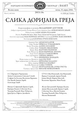 слика доријана греја - Народно позориште у Београду