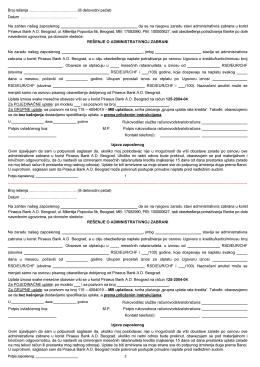 administrativna zabrana
