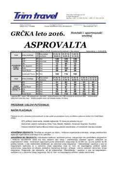 GR ASPROVALTA -leto 2016