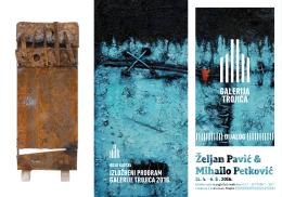 izložbeni program galerije trojica 2016. ||||||||||| dijalog