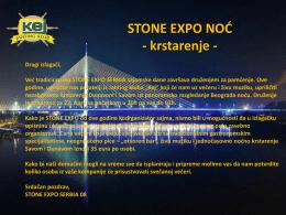Pozivnica - Kamen Srbije