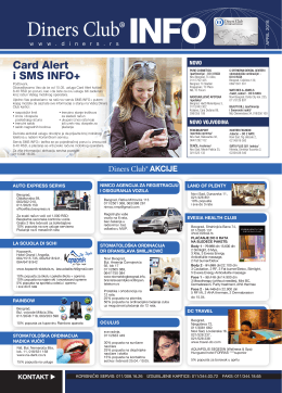 Card Alert i SMS info+ - Diners Club International