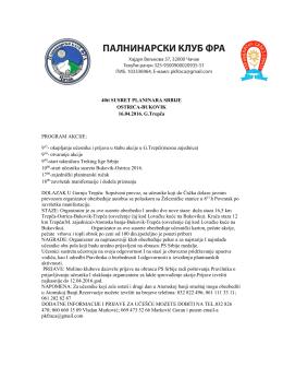ovde - Planinarski savez Srbije