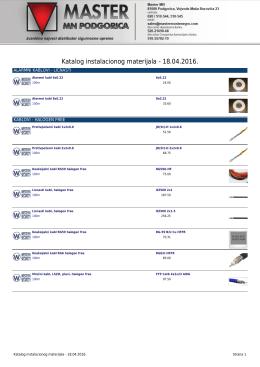 Katalog instalacionog materijala