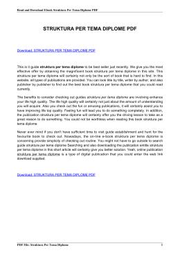struktura per tema diplome pdf