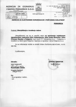srđ~`vtiĆ - Agencija za elektronske komunikacije i poštansku djelatnost