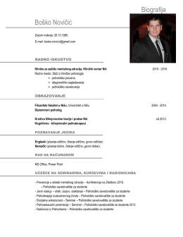 Biografija Boško Novičić