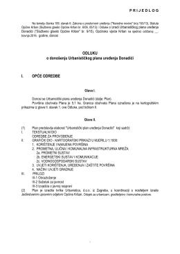 Prijedlog Odluke o donošenju UPU Donadići za vijeće