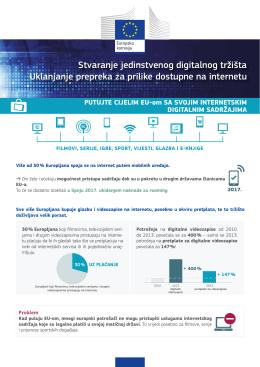 Stvaranje jedinstvenog digitalnog tržišta Uklanjanje prepreka za