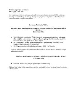 obavijest - Hrvatska udruga medicinskih sestara