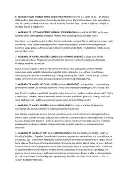 9. izdanje Festivala hrvatske drame za djecu Mali Marulić održano je