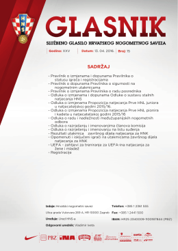 Glasnik 15/16 - Hrvatski nogometni savez
