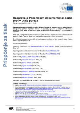Priopćenje za tisak - European Parliament