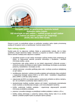 Europski centar za sprečavanje i kontrolu bolesti Slobodno