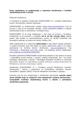 EUROSTUDENT VI_Obavijest