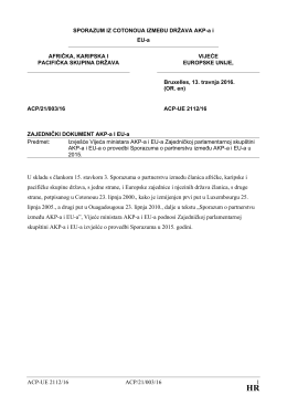 ACP-UE 2112/16 ACP/21/003/16 1 U skladu s člankom 15. stavkom