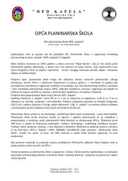 """PLANINARSKA ŠKOLA HPD """"Kapela"""" 2016.g"""