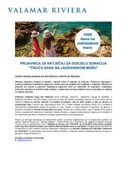 tisuću dana na jadranskom moru
