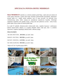 specijalna ponuda hotel meridijan