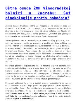 Oštre osude ŽMH Vinogradskoj bolnici u Zagrebu: Šef