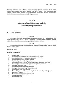 Prijedlog odluke o donošenju UPU Brestova za vijeće
