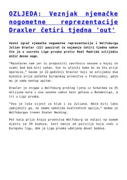 Veznjak njemačke nogometne reprezentacije Draxler