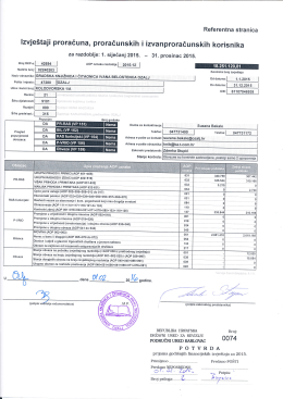Izvještaj proračuna, proračunskih i izvanproračunskih korisnika za
