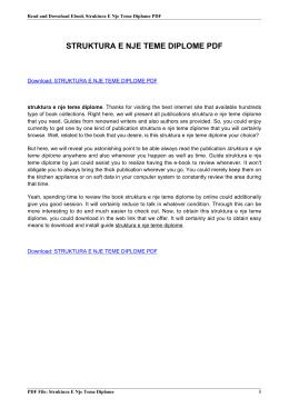 struktura e nje teme diplome pdf