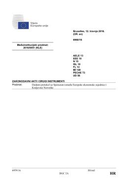 6959/16 SS/mil DGC 2A Dodatni protokol uz Sporazum između