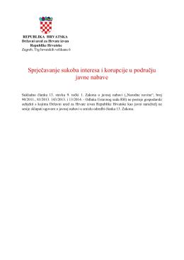 Sprječavanje sukoba interesa i korupcije u području javne nabave