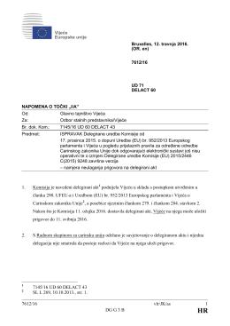 7612/16 vlr/JK/as 1 DG G 3 B 1. Komisija je navedeni delegirani