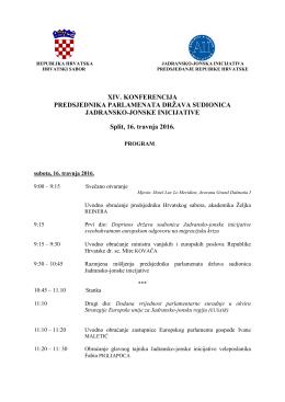 Program XIV. Konferencije predsjednika