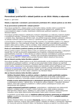 Porovnávací prehľad EÚ v oblasti justície za rok 2016