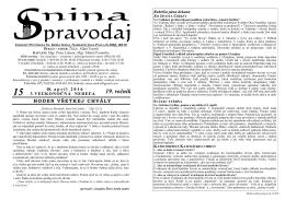 19. ročník - Farasnina.sk