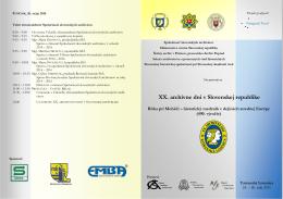 XX. archívne dni v Slovenskej republike