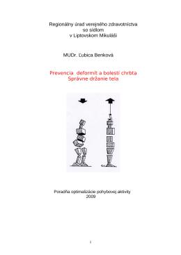 Prevencia deformít a bolestí chrbta