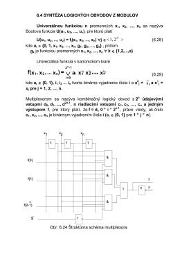Syntéza logických obvodov z modulov