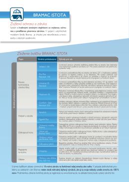 Zloženie balíčka BRAMAC ISTOTA Zvýšená ochrana a záruka