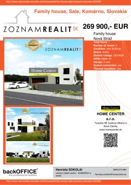 269 900,- EUR - Real Estate Slovakia