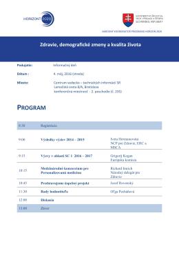 program - Centrum vedecko-technických informácií SR