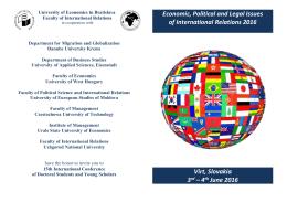 Program Committee - Ekonomická univerzita v Bratislave