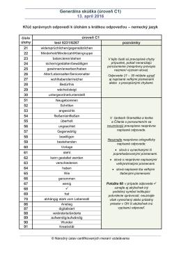 Kľúč správnych odpovedí k ÚKO GS 2016 C1