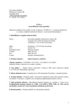 VÚ 1056 Zemianske Kostoľany - Mäsové