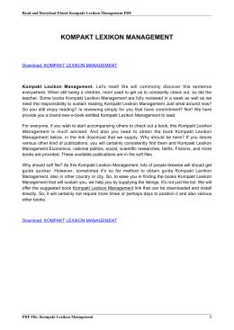 kompakt lexikon management pdf