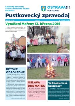 Pustkovecký zpravodaj 1/2016 - Statutární město Ostrava