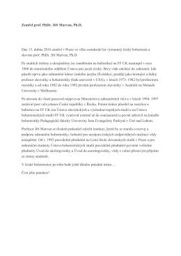 Marvan - Ústav bohemistických studií